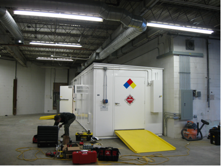 Inside Prefabricated Flammable Liquids Storage Mix